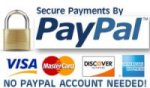 Secure payments with PayPal, no account needed.