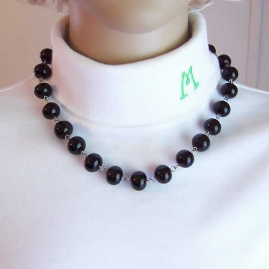 Dark Amethyst Hand Made Lampwork Glass Bead Fashion Necklace
