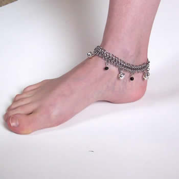 Chain Maille Bells and Beads Anklet