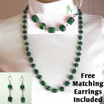 "29"" Emerald Mints Necklace"