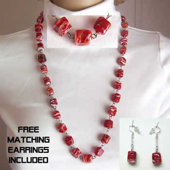 "28"" Cherry Candy Necklace"