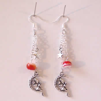 Moon Fairy Bead Earrings