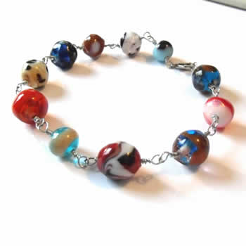 Multi Color Swirled Bracelet