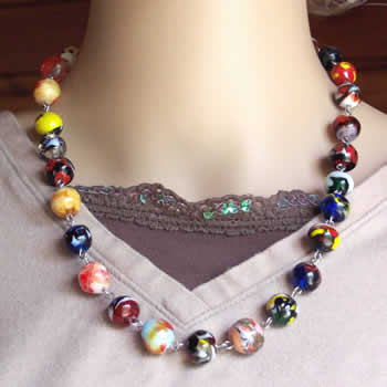 Rainbow Swirled Necklace