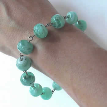 Sea Green Swirl Bracelet